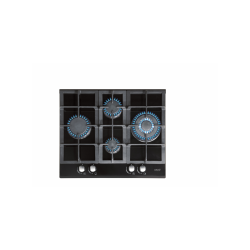 Encimera Cristal Gas Cata LCI631A BK 4 fuegos Negra