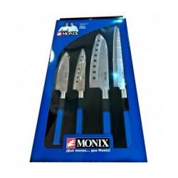 Set Cuchillos Monix Japoneses 4 Unidades