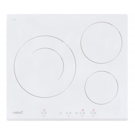 Vitroceramica de Induccion Cata IB6030WH 3 Fuegos Blanca