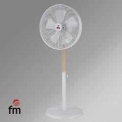 Ventilador Pie FM Np-140 3 Vel Oscilante Metal Y Madera