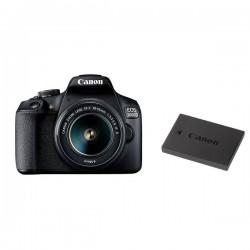 Camara Reflex Canon EOS 2000D Kit 18-55is li Wifi Nfc Bateria Bolsa