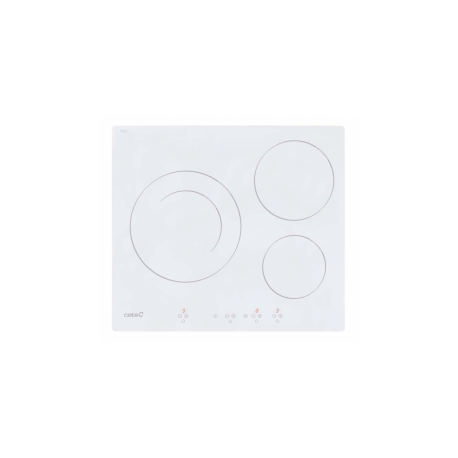 Vitro de Induccion Cata IB6203WH Blanca 3 Fuegos