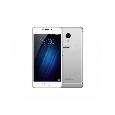 MOVIL MEIZU M3S (Y685H-2/16GW) METAL PLATA - FRONTAL BLANCO