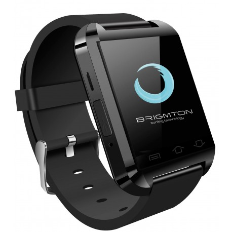 Brigmton Reloj Smartwatch Color Negro Compatible Con Android