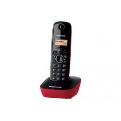 TELEF. INAL. PANASONIC KX-TG 1611 SPR NEGRO-ROJO