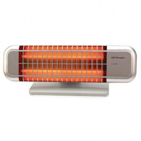 Estufa pie ORBEGOZO BP0102 1200w Frontal Aluminio 2 Barras Cuarzo