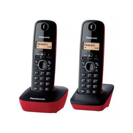 Telef. Inal. Duo Panasonic KXTG 1612 SPR Negro Rojo