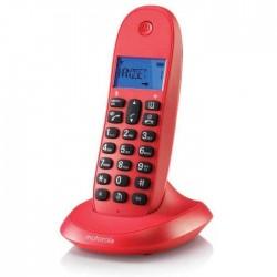 Telef. Inal. Motorola C1001LB+ Cereza Manos Libres