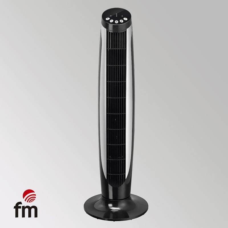 Ventilador Torre FM Vtrblack 3 Vel Oscilante Mando